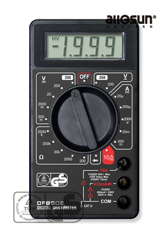 Picture of DF830E, GS marking DIGITAL MULTIMETER
