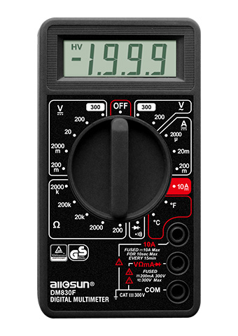 Picture of DM830F, GS marking DIGITAL MULTIMETER