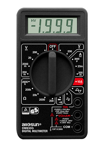 Picture of DM830G, GS marking DIGITAL MULTIMETER