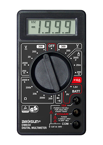 Picture of DM830, GS marking, DIGITAL MULTIMETER