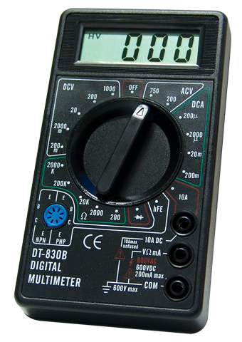 Picture of DT830B, CE marking 3 1/2 DIGITAL MULTIMETER