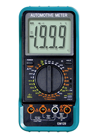 Picture of EM129, 10 Functions Automotive Digital Multimeter