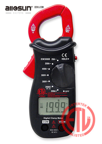 Picture of EM306B, US ETL Marking - Mini Digital Clamp Meter