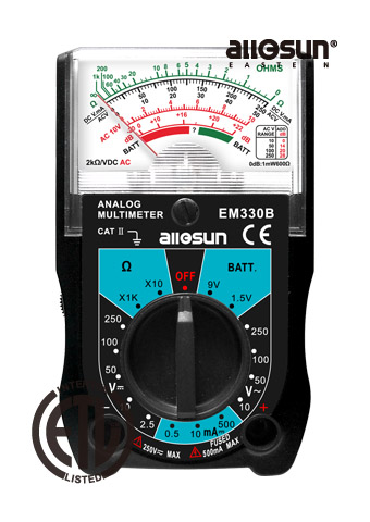 Picture of EM330B, ETL marking, ANALOG MULTIMETER