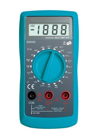 Picture of EM392, GS/CE marking 3 1/2 DIGITAL MULTIMETER