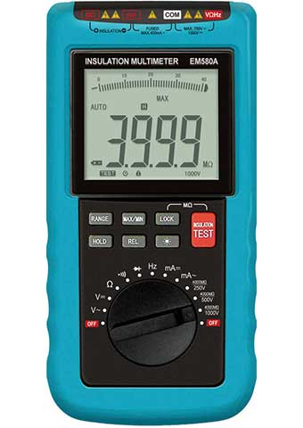 Picture of EM580A, INSULATION(MEGOHM) AUTORANGING 3 3/4 MULTIMETER