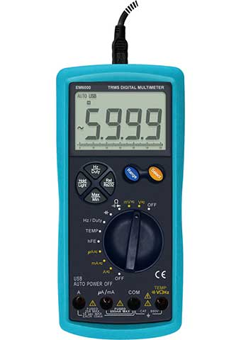 Picture of EM6000, GS marking, TRUE RMS DIGITAL MULTIMETER